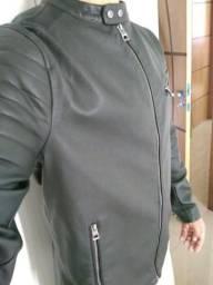 Jaqueta de couro contemporâneo (nova)