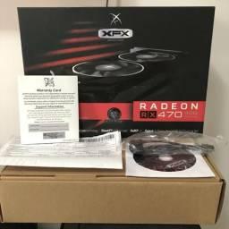 Placa de vídeo RX 470 XFX Black Edition