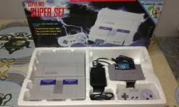 Super Nintendo na caixa