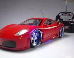 Ferrari Carrinho Controle Remoto Carro Rodas Farol Neon Led