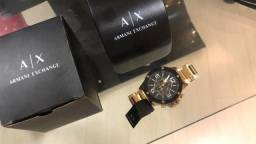 Relógio armani exchange dourado original