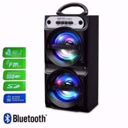 Caixa Caixinha Som Port¨¢til Bluetooth Mp3 Usb Cart?o Fm