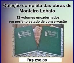 Coleção encadernada de Monteiro Lobato - 12 volumes