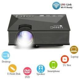 Mini Projetor Wifi Led 130 polegadas 1200 lumens hdmi 110/220v