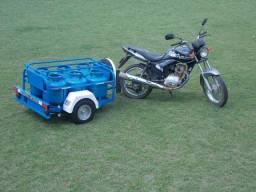 Carretinha para moto modelo Eco Gás Personalizado