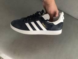 Tênis Couro adidas Originals Gazelle Azul Marinho Tamanho 40