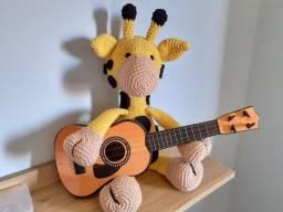 Girafa pelúcia amigurumi