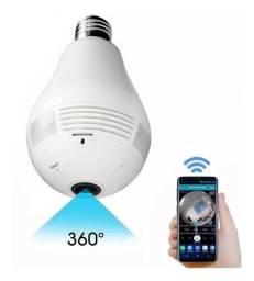 Camera Lampada Seguranca capacidade até 32 Gb Micro SD Wi-fi V380 Vr Cam