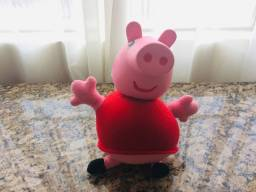 Boneca Pelúcia Peppa Pig Original Cabeça De Plástico Vinil