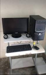 Pc completo sem a mesa com teclado e mouse sem fio 750,00