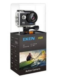 Câmera Action Cam 4K Eken H9 nova com vários acessórios
