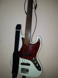Tagima Jazz Bass Fretless Seizi Anos 90, com upgrades