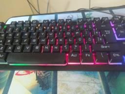 vendo teclado semi mecânico e mause pad