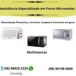 Assistência eletrônica em forno microondas