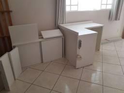 Móveis escritório -mesa, armário e prateleiras