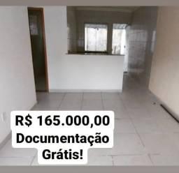 Título do anúncio: Casa Geminada individual documentação grátis Bairro Luana
