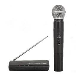 Microfone Profissional S/Fio Uhf 610/630Mhz Wireless Karaokê até 40 Metros