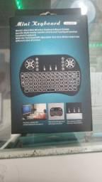 Mini Teclado Wireless Touch Para Celular Pc Android Tv Smart