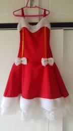 Fantasia vestido mamãe noel luxo