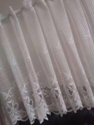 Linda cortina de renda p sua cozinha, banheiro etc