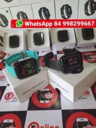 Smartwatch Relogio D13 compatível com Android e iPhone