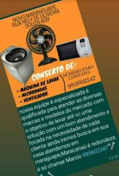 Conserto de máquinas de lavar microondas ventilador