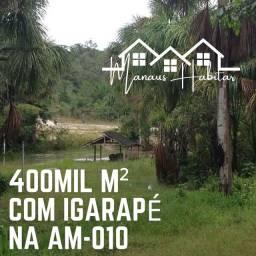 40 hectares de terra com igarapé dentro documentado! Aceita carro no negócio!