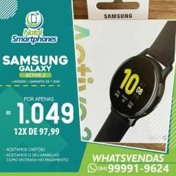 Samsung GALAXY ACTIVE 2 ( COM GPS ) PRETO ( 44MM LACRADO+NF ) 01 ANO GARANTIA