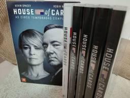 Box DVDs House Of Cards As Cinco Temporadas Completas