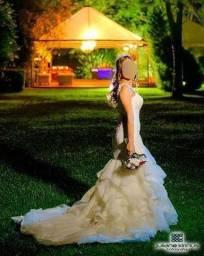 Vestido de noiva tipo sereia