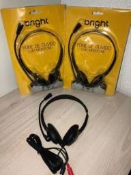 Headset bright 0010 office com microfone preto