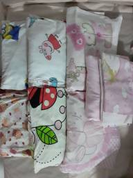 Jogos de lençol para berço com fronha (Usado)