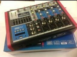 Mesa de Som Compacta Soudvoice 6 canais MC6 EUX (12x no cartão)