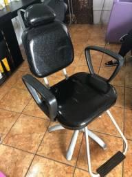 Cadeira hidráulica para salão de beleza com glitter