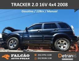 Gm tracker 4x4 2.0 gasolina 2008 sucata em peças
