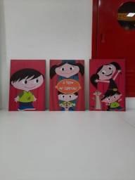 3 placas Show da Luna MDF - Desapego