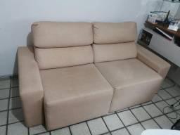 Sofá semi-novo/ painel para TV