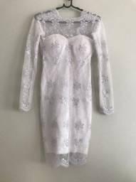 Vestido Branco formatura/casamento/debutante tamanho PP