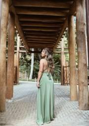 Vestido longo multiformas madrinha de casamento (verde)