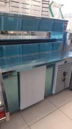 v-balcão refrigerado com condimentadora