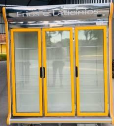 Torro geladeira expositora auto serviço 3 portas funcionando perfeitamente