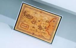 Placa Decorativa em MDF do Mapa de Nárnia
