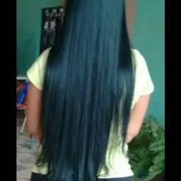 cabelo orgânico + aplicação