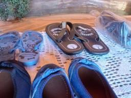 Sandália e sapatilhas