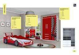 Kit de quarto - carro vermelho infantil