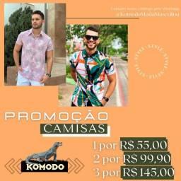 Promoção camisas masculinas