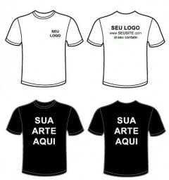 Kit 20 Camisetas Malha fria - Com Estampa Personalizada Atacado