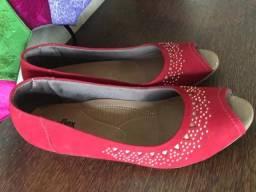 Título do anúncio: sapato usaflex vermelho com strass numero 39 novo