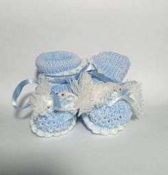 Sapatinho de tricot para bebê
