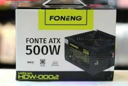 Fonte Real 500w Foneng Atx